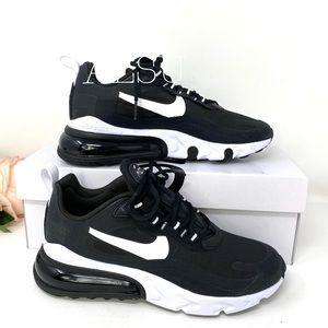 Nike Air Max 270 React Black White Women Sneakers